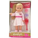 "30cm (12"") Evelyn Angel has beautiful long blonde hair. Dressed in a deluxe dress with ""Angel""  emblem. Evelyn is soft bodied with sleeping eyes.  Accessories include hairbrush and scrunchies. Age 18m+"