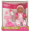 "38cm (15"") Baby Oliva is a drink & wet doll with sleeping eyes. Accessories include a potty, nappy,  bottle and dummy.Age 18m +"