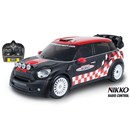 1:16 Scale full function Mini Countryman WRC -  John Cooper Works.  Tri-band 27MHz - race up to 3  cars together.  Speed 8.5km/h.  Requires 4 x AA  and 1 x 9V batteries (not included).  Age 6+.