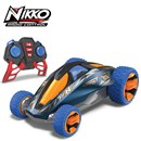 RC Car with 2.4GHz frequency. 1 hour quick charge  9.6v LiFePO4 battery. Stunts include 2 wheel  stand, 1 wheel wave and spiral stunt.