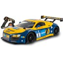 Nikko radio control Evo Pro Line Audi R8 LMS with  pro grade 2.4GHz 100M range.  Drive with up to 40  other vehicles with frequency hopping technology.  High speed 24km/h.  Includes 9.6V Ni-MH battery  pack and 1hr quick charger.