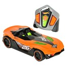 Iconic Hot Wheels with full-function R/C driving  and a turbo mode feature.  Press button to  activate turbo mode and light-up engine for high  speed R/C fun! Each style of Nitro Charger  operates on it's own channel, allowing 4-way  head-to-head racing.