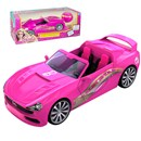 Simple function R/C convertible that  fits any Barbie!  Includes a detailed interior and  realistic steering wheel controller.  Age 3+.