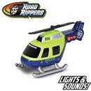 Sturdy Police Helicopter with propeller. Also  includes light and sound. Part of the Rush &  Rescue series. 12.5cm Length. Age 3+ Includes 3 x  LR44 Batteries.
