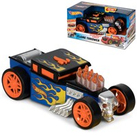 Hot Wheels Vehicle withh Fire effect livery. Lights and SFX and motorized drive. Length 18cm approx. Age 3+