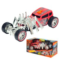 Hot Wheels Street Creeper motorised vehicle with  with spider engine crawling action, glowing eyes,  music and soundFX. Open boxed with 'Try Me'  function.  Requires 3 x AAA batteries (included).  Age 3+.
