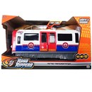 Large motorised underground train - press the  buttons for go action, lights, sounds and opening  doors.  27cm length.  3 x AA batteries included.  Age 3+.