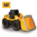 Freewheeling Cat wheel loader with rumbling action  that captures the authentic feel of a machine in  motion.  Lift the scoop to trigger realistic  sounds.  Push button for lights, sound effects and  music.  Includes 2 x AA batteries.  Age 3+.