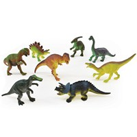 8 assorted plastic Dinosaur figurines. Age 3+