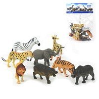 8 assorted plastic Jungle Animal figurines. Age  3+