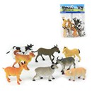 8 assorted plastic Farm Animal figurines. Age 3+