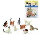 9 assorted plastic pet cat figurines. Age  3+