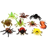 10 assorted plastic life like insects. Age 3+
