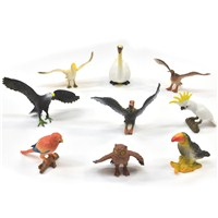 9 assorted plastic birds. Age 3+