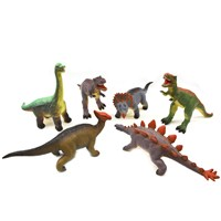 6 assorted soft touch dinosaurs (32 - 37cm). 18pcs per cdu. 3yrs+