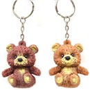 Cute Little bean filled Stretchy Bear on a  keychain. 2 assorted. 3+