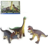 Pack of 3 soft touch Dinosaurs. 3 years +