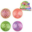 Glitter stress ball encased into a neon mesh. 4 assorted. 7cm width. Age 3+
