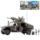 Humvee Assault Vehivle with 2 fully articulated figures. Includes various accessories. Humvee length 26cm. Figure Height 9.5cm.  1:18 scale. Age 3+.