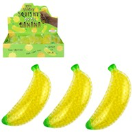 Banana shaped stress toy filled with gel beads. Height 13cm. Age 3+