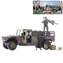 Humvee Pick Up Truck with 2 fully articulated figures. Includes various accessories. Humvee length 26cm. Figure Height 9.5cm.  1:18 scale. Age 3+.