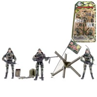 3 Marine figures dressed in uniform with 22 articulated points. Includes various accessories such as  guns, backpacks, missiles and much more  Height 9.5cm. 1:18 scale.  Age 3+.