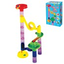 ***NEW FOR 2018*** Create an amazing Marble Run with this 29 piece set (14 marbles and 15 accessories to build towers, chutes and swirls. All in bright gift box. Age 3+
