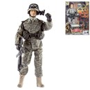 Detailed military action figure dressed in full uniform with over 30 articulated points. Includes a variety of accessories such as goggles, guns, grenades and much more. Height 30.5cm.  1:6 scale  Age 3+.