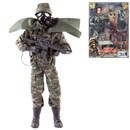 Detailed military action figure dressed in full uniform with over 30 articulated points. Includes a variety of accessories such as grenade, mask,  guns and much more. Height 30.5cm.  1:6 scale  Age 3+.