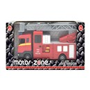 1:48 Scale free wheeling fire engine with extendable ladder and siren  sounds.  Boxed with 'Try Me' function.  Diecast  metal and plastic parts.  Age  3+.