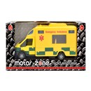 1:48 Scale Paramedic rapid response vehicle with  siren sounds, opening door and free wheel action.  Boxed with 'Try Me' function.  Diecast metal and  plastic parts.  Length 15.5 cm.  Age 3+.