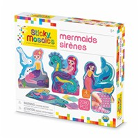 ***NEW FOR 2019***Mosaic by numbers! Follow the easy number coding system to apply the self adhesive shaped foam tiles to the template and create beautiful mermaid mosaic's. Set includes 4 designs to decorate, with 2072 sticky tiles. 5yrs+