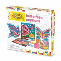 ***NEW FOR 2019***Mosaic by numbers! Follow the easy number coding system to apply the self adhesive shaped foam tiles to the template and create beautiful butterfly mosaic's. Set includes 4 designs to decorate, with 2336 sticky tiles. 5yrs+