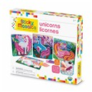 ***NEW FOR 2019***Mosaic by numbers! Follow the easy number coding system to apply the self adhesive shaped foam tiles to the template and create beautiful unicorn mosaic's. Set includes 4 designs to decorate, with 2100 sticky tiles. 5yrs+