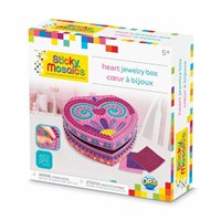 ***NEW FOR 2019***Mosaic by numbers! Follow the easy number coding system to apply the self adhesive shaped foam tiles and create a beautiful heart shaped jewelry box. Set includes jewelry box to decorate, with 652 sticky tiles. 5yrs+