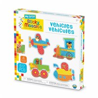 ***NEW FOR 2019***Follow the simple colour coding system to apply the self adhesive shaped foam tiles and create fun vehicle mosaics. Set includes 4 designs to decorate, with 509 sticky tiles. 3yrs+