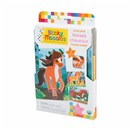 ***NEW FOR 2019***Mosaic by numbers! Follow the easy number coding system to apply the self adhesive shaped foam tiles to the template and create beautiful horse mosaic's. Set includes 3 designs to decorate, with 684 sticky tiles. 5yrs+