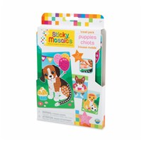 ***NEW FOR 2019***Mosaic by numbers! Follow the easy number coding system to apply the self adhesive shaped foam tiles to the template and create adorable puppy mosaic's. Set includes 3 designs to decorate, with 604 sticky tiles. 5yrs+
