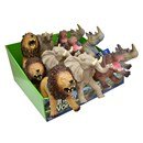 4 assorted soft touch wild animals (25 - 30cm). 18pcs per cdu. 3 yrs+