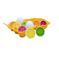 eggster count & match eggs are educational toys for babies & young children for imaginative everyday play! Great for assisting your child in developing fine motor skills & hand eye co-ordination. Also great for assisting your child's shape & colour foundation skills. The product contains a batch of 6 numbered eggs. age 10 months+