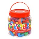 Tub of 108 magnetic upper case letters. Age 3+