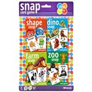 Pack of 4 Snap card games.  Includes dino snap, zoo snap, farm sanp and shape snap.  With rules. 3+